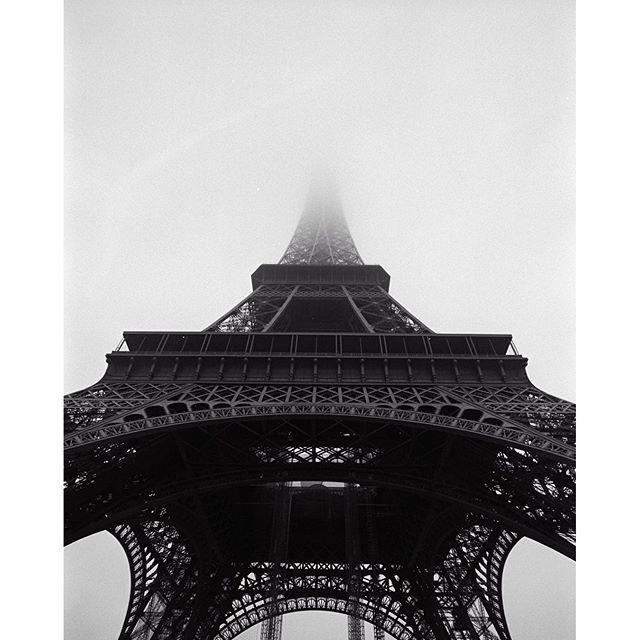 Eiffel tower, Paris 2013#tb #paris #toureiffel #eiffeltower #eiffelturm #archilovers #bwlovers #analogphotography #leica