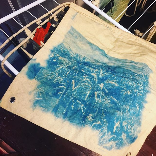 Finally. The first cyanotype bag is finished.