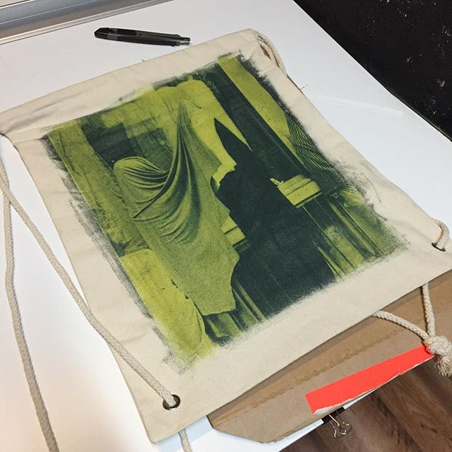 Cyanotype on a bag