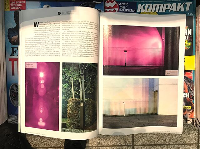"@technologyreview Germany featured my thesis peoject ""Beschattung"" in it's February issue. #technologyreview #beschattung #infraredphotography #surveillance #artandsurveillance #cctv #conceptualart"